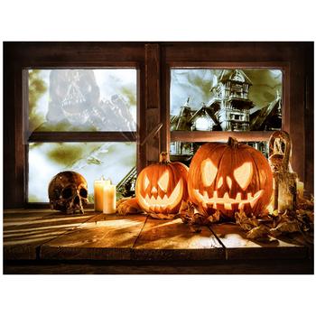 halloween décoration citrouille lanterne acrylique peinture
