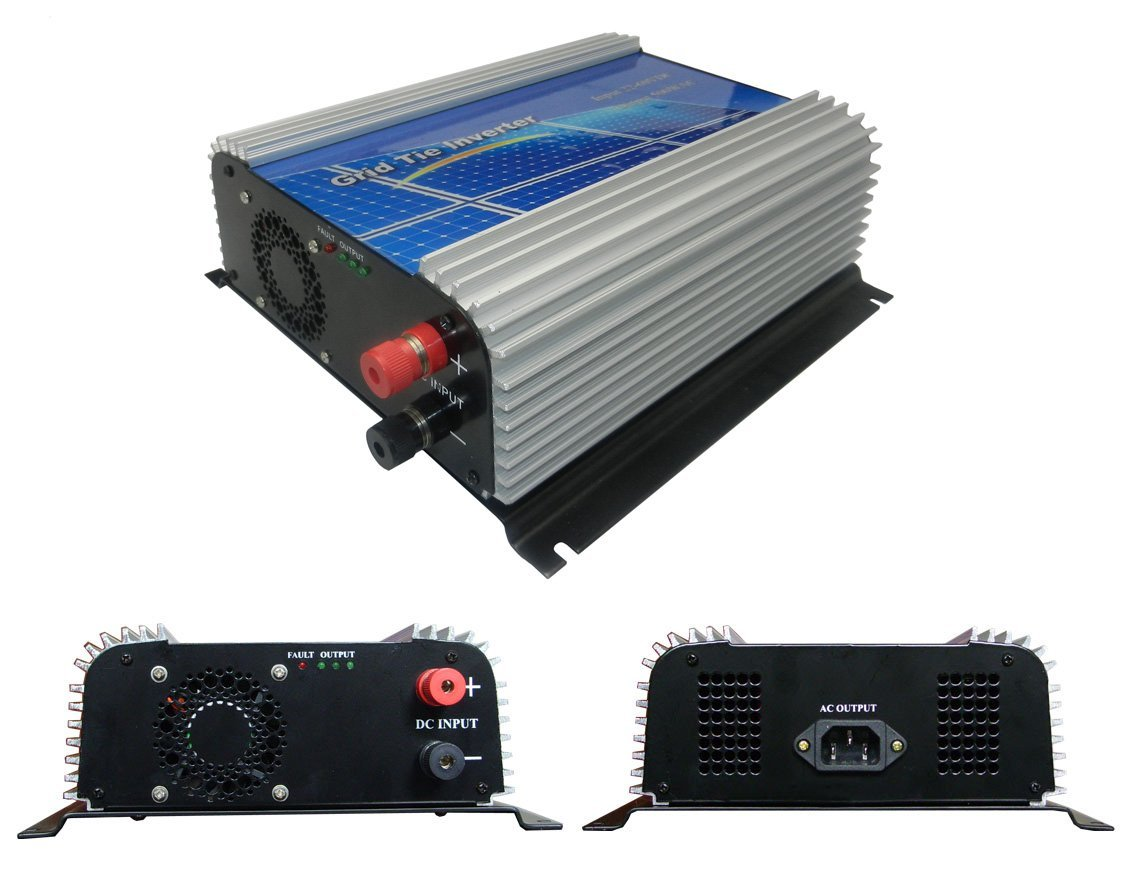 DECEN 500w High Efficiency Grid Tie Micro Inverter Output Pure Sine Wave, 10.5-30vdc,110vac,60hz for Home Solar System