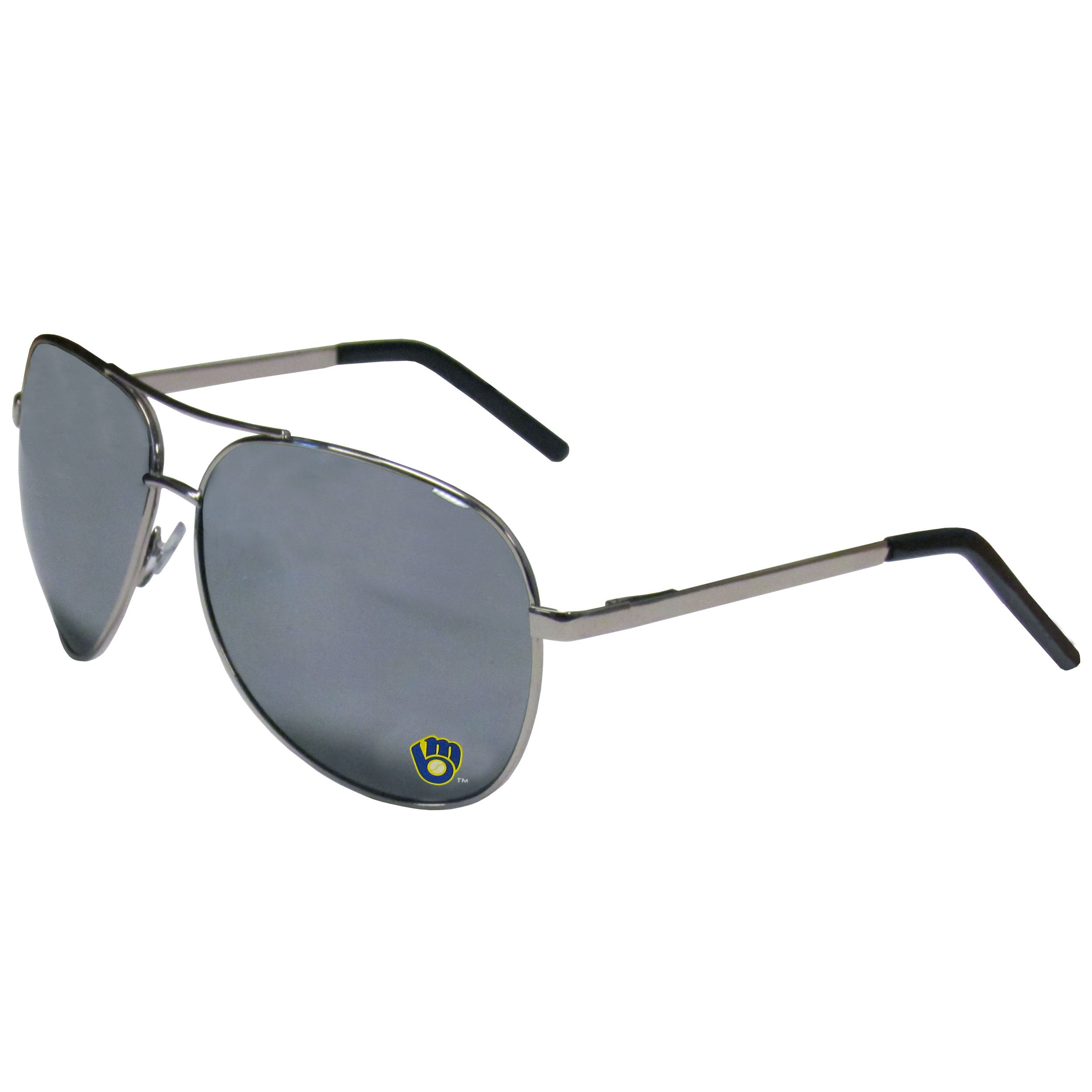1514ec6fdd Get Quotations · MLB Milwaukee Brewers Aviator Sunglasses