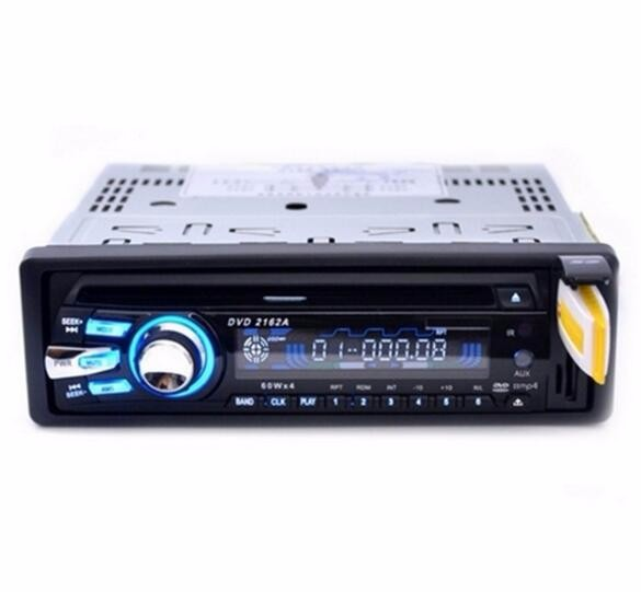 60W 4 Channels Multi-Functional Car DVD MP3 Media Player Radio Music Play Bluetooth Hand-Free Function