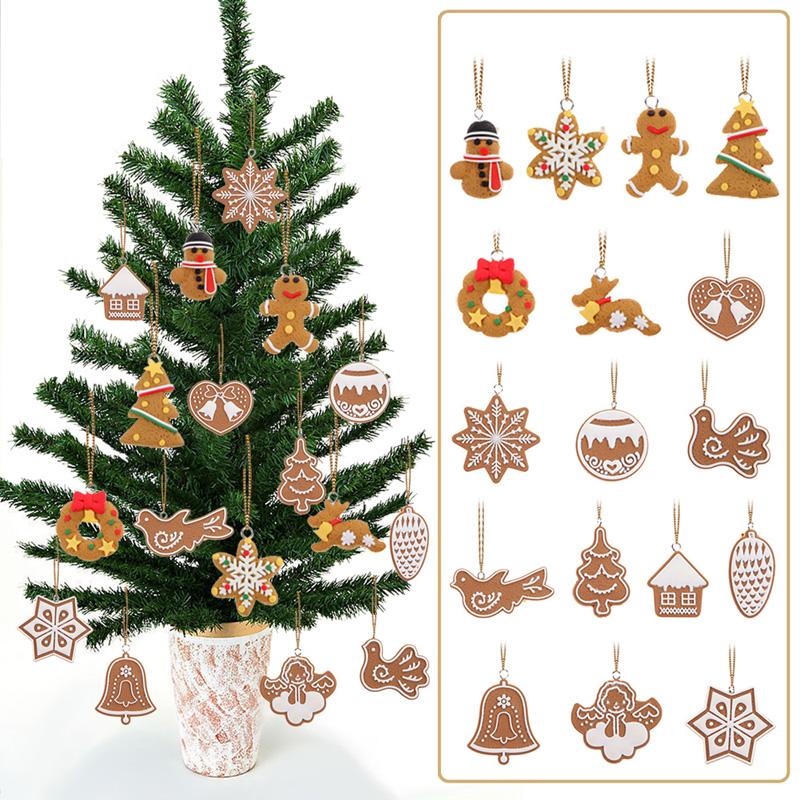 17Pcs Hanging Christmas Tree Ornament Snowflake/Jingle