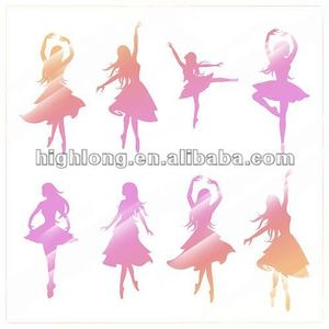 Dancing Girl Wall Mirror Sticker