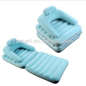 Self inflating inflatable chair sofa cum bed