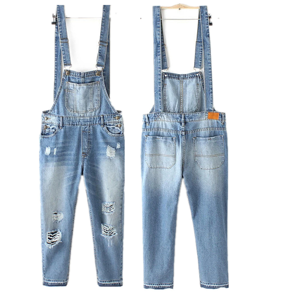 1a9820b06b5 Get Quotations · 4283 denim overalls for women summers tyle jeans ripped  jumpsuit Jumpsuits Overall Casual Jeans Romper women s