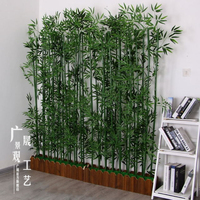 Various Color Artificial Bamboo Plants Bonsai Tree For Garden Wall Decoration
