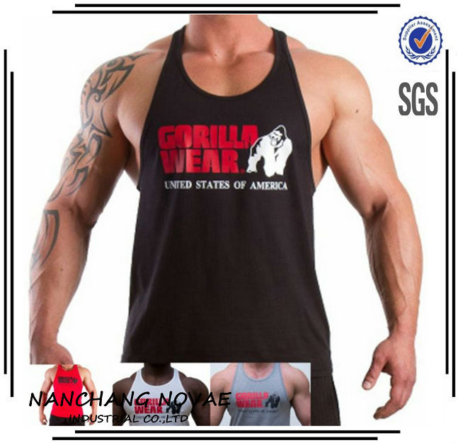 c5e57c846ef3e New Classic Tank Top Men S Muscle Gym Tank Tops For Fitness   Bodybuilding  100% Cotton Loose Training Suit