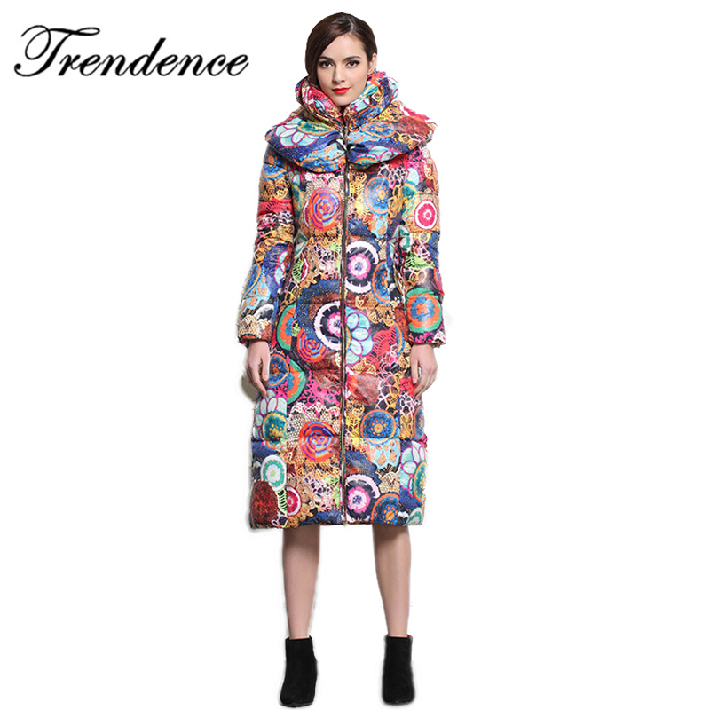 Trendence free shipping winter jacket women long style