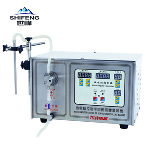 China mini semi auto small bottle liquid filling machine