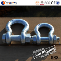 rigging hardware green us type forged marine bow shackle