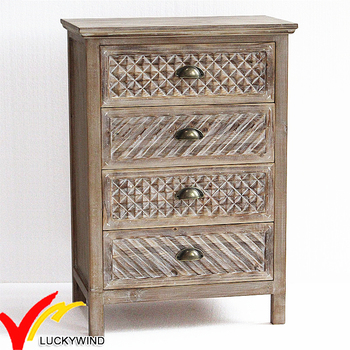 4 Drawers Solid Handmade Vintage Chic Hobby Lobby Wooden Bedroom Furniture