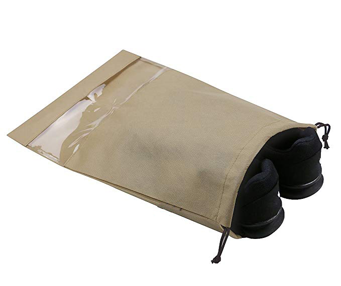 High quality trip travel dust proof travel drawstring shoe bags for women