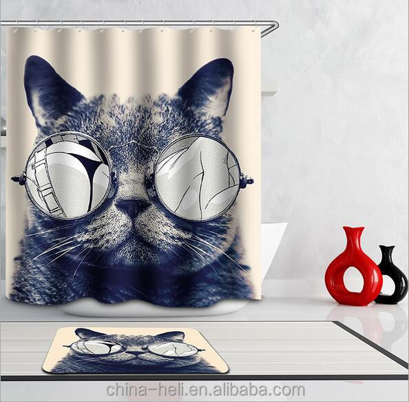 Cat Shower Curtain, Cat Shower Curtain Suppliers and Manufacturers ...