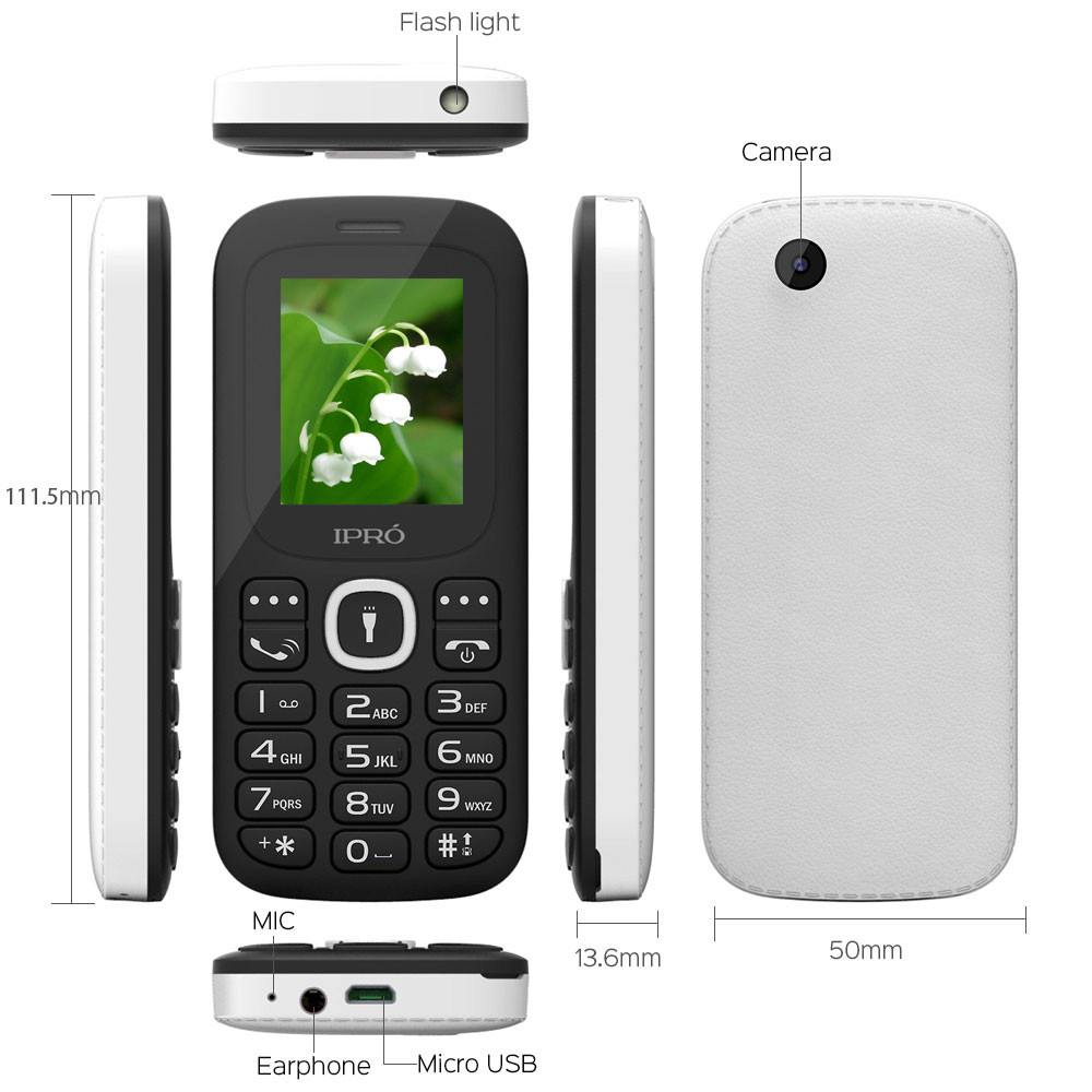 """Phones For The Elderly: US IPRO 1.8"""" Big Button Basic Simple Senior Cell Phone For"""