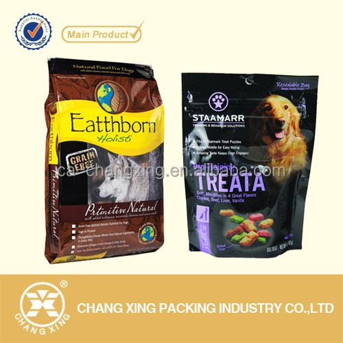 popular pet food bags/dog food bags , cat food bag, bird food bag with recloseable zipper and carry handle(24 year manufacturer)