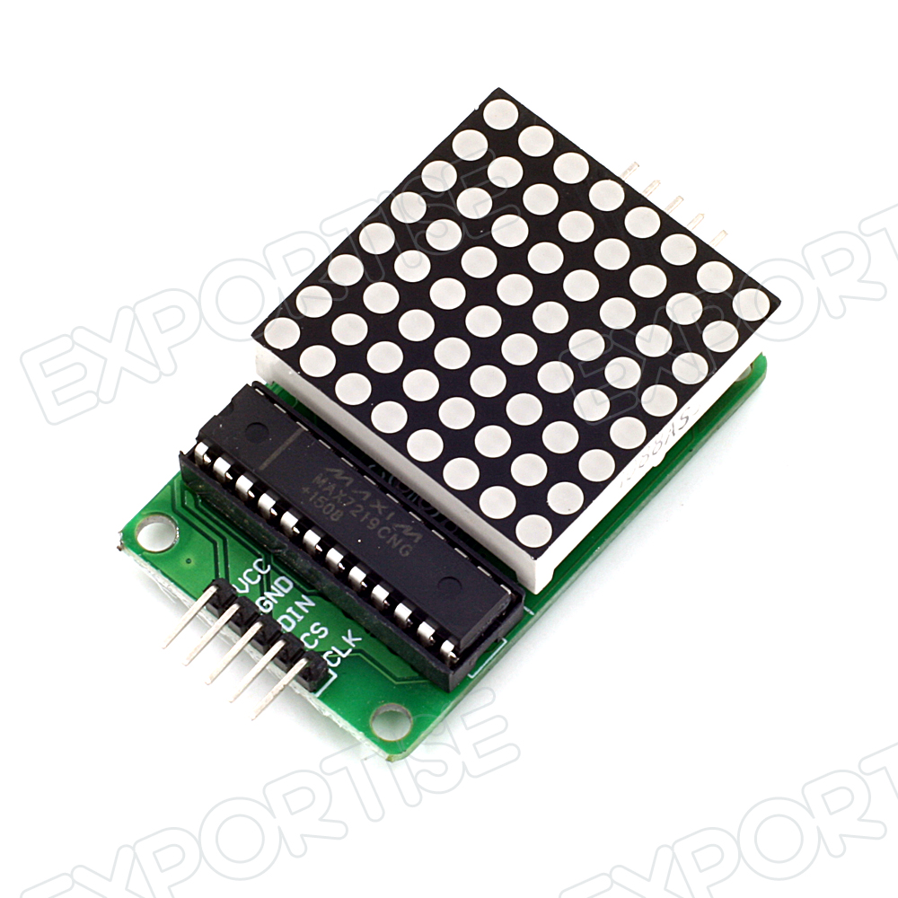MAX7219 Serial Dot Matrix Red Display Module 8X8 LED Cable for Arduino