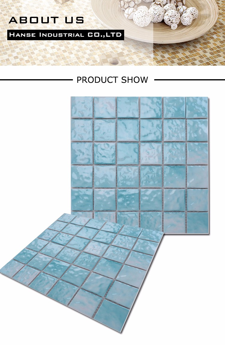 Md050t Sky Blue Color Cheap Price Swim Pool Ceramic Mosaic Tiles ...