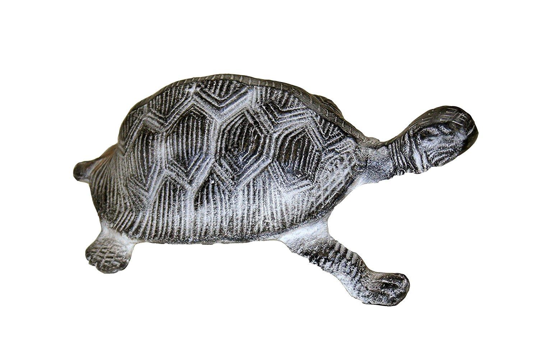 "GiftBay Garden Turtle Statue, Solid Cast Aluminum Metal, 9"" Length, Patina Finish"