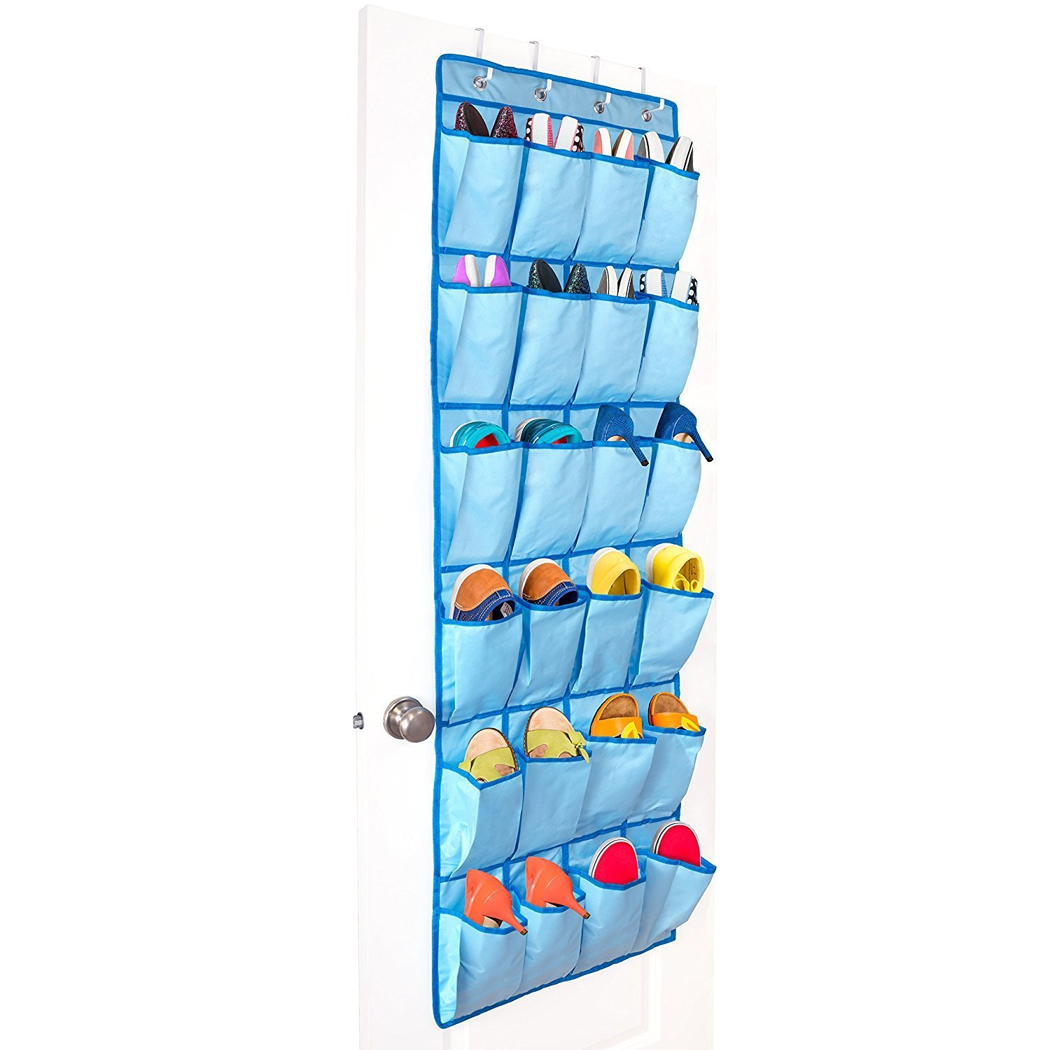 Get Quotations Pei Trade 24 Oxford Pockets Over The Door Shoe Organizer Transpa Storage Bag Hanging