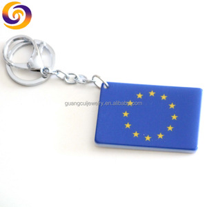 2020 latest souvenirs customized acrylic Europe Union flag key chain