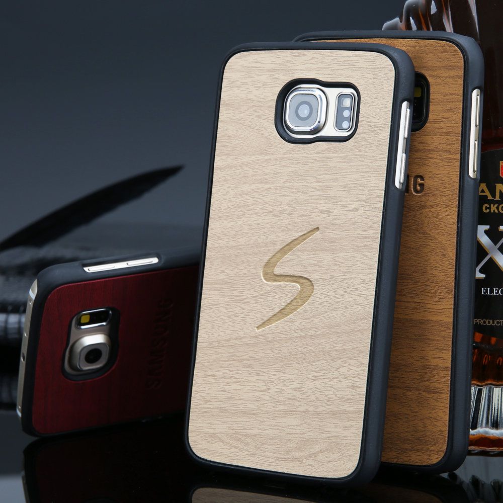 online retailer 8cf17 6c988 New Arrival case for samsung Galaxy s6 wood Vintage Retro Style phone cases  for Samsung s6 G9200 with high quality