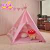 Indoor or outdoor play tent for kids fun Indian pink cotton tent for kids W08L004