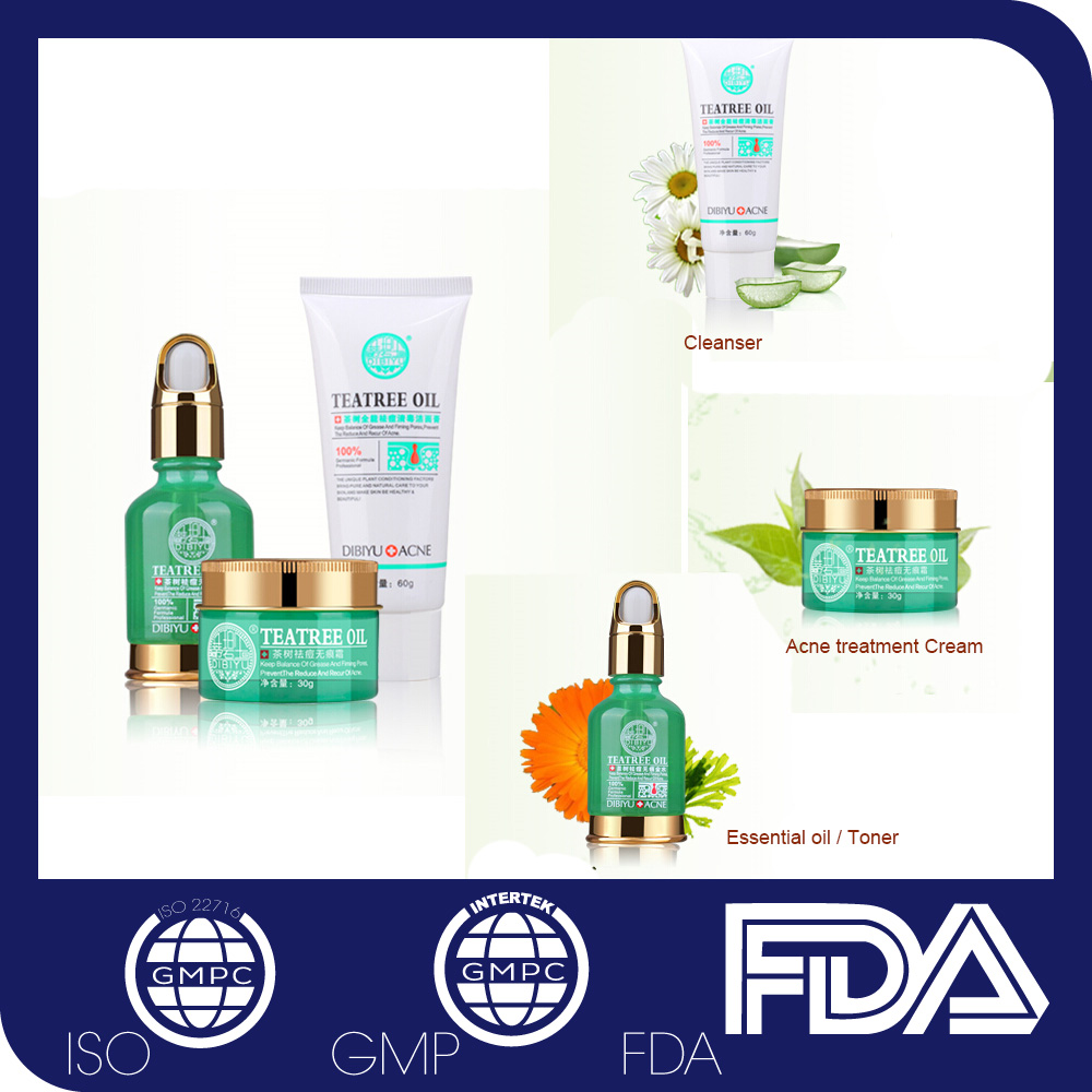 3 in 1 Cleanser + Toner Anti acne en puistje behandeling Crème