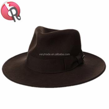 2333029becafb INDIANA JONES HAT- Indiana Jones Men s Wool Felt Water Repellent Outback  Fedora with Grosgrain
