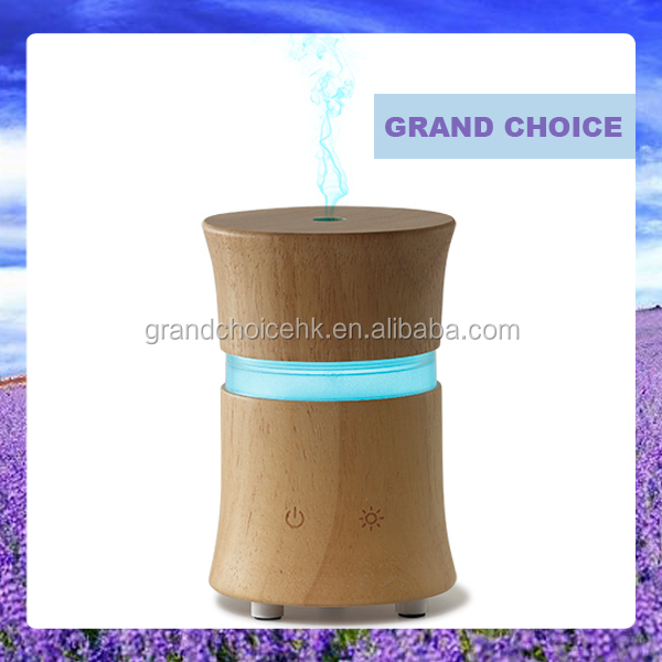 Wood aroma diffuser machine essential oil led diffuser