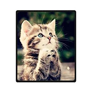 """60"""" x 80"""" Blanket Comfort Warmth Soft Cozy Air conditioning Easy Care Machine Wash Cute Cat Animals Keep Calm"""