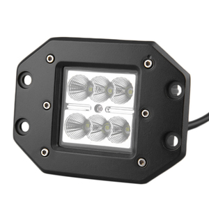 "18W 4"" 12v-24V Flush Mount Flood Driving Fog Light for Off Road Truck Tacoma Bumper ATV UTV car LED Work Light bar"