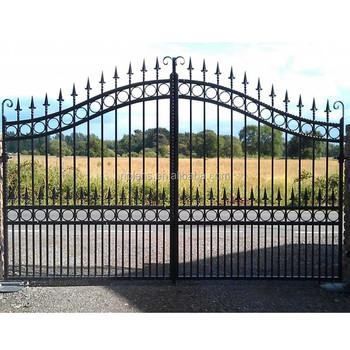 Wrought Iron Gate Modern Iron Gate Designs Black Powder Coated