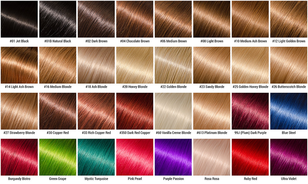 виды цветов для волос картинки вид крепежа необходим