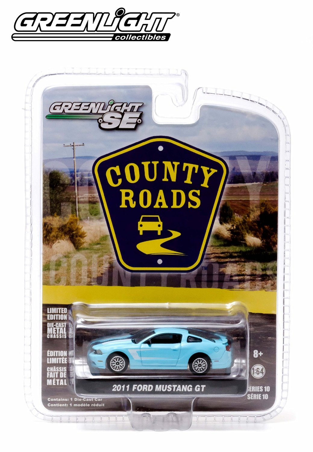 2011 Ford Mustang GT * County Roads Series 10 * 2014 Greenlight 1:64 Scale Limited Edition Die-Cast Vehicle