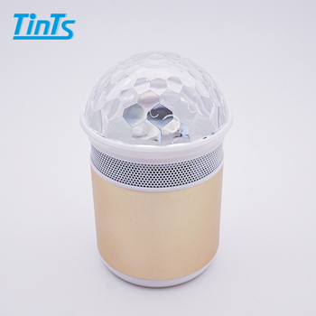 Best selling aluminium housing disco BT Wireless speaker with color changing light