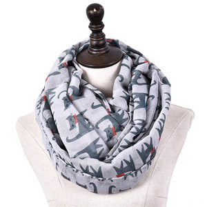 China Wholesale Most Popular Fashion Colorful Silky Women Cat Print Scarf