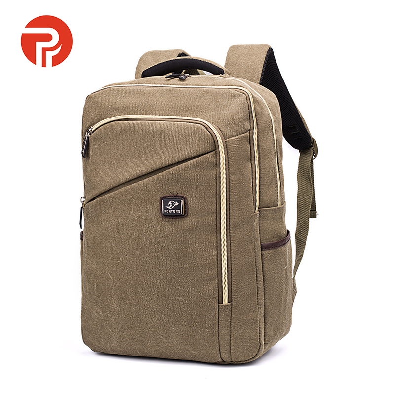 Popular hot new leather canvas outdoor backpack hiking back pack canvas backpack for laptop camera