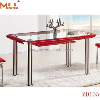 Moderno Vidrio Doblado Mesa De Comedor Hecho En China - Buy Mesa De ...