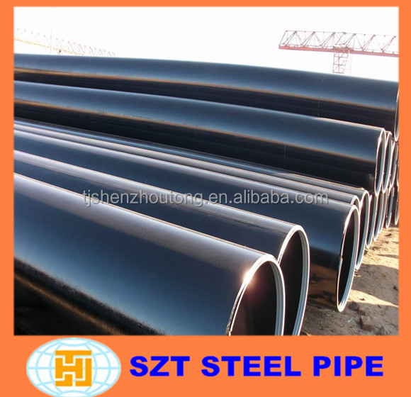 API 5L x70 grade steel pipe, LSAW Welded poly lined steel pipe/tube 6
