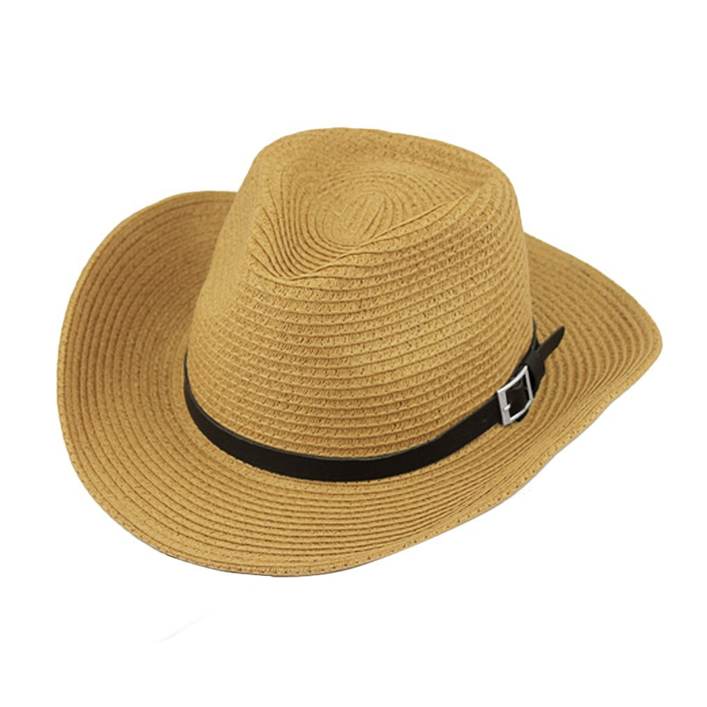 a2d98a84781c6 Classic Women s Men s Unisex Crushable Pannama Hat Foldable Packable Summer  Straw Gangster Cowboy Fedora Cap Beach Sun Hat with String Wide Brim UPF  50+ ...