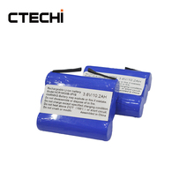 GPS Tracker replacement battery 3.7V li ion 18650 battery pack 6600mah capacity