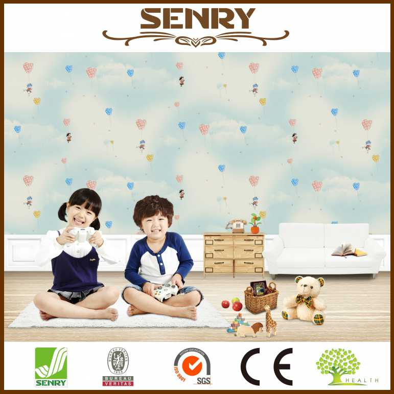 3d sticker baby room wallcovering silk luxury wallpaper designs for kids room