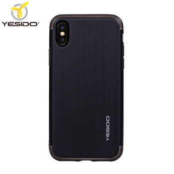 pretty nice 0f8bf 1dd1f Yesido Best Selling Brushed Finishing For Iphone X Case Shockproof Hybrid  Matt Black Phone Case Full Cover For Iphone X Case - Buy For Iphone X Case  ...