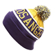 Hot selling fashion pompons striped beanie hats for men knitted beanie