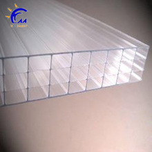 Ten years guarantee GE cheapest triple wall polycarbonate sheet with uv coat