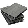 Anti aging hollow profile cheap price embossed carefree composite plastic wood wpc outdoor patio eco decking flooring