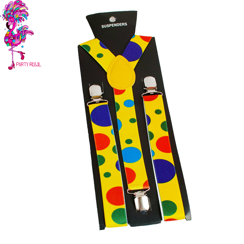 Wholesaler Adults Women and <strong>Men</strong> Fashion Adjustable Y-back <strong>Suspenders</strong> For Clown Carnival Halloween Disco Party