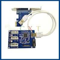 PCI-e Express 1x To 3 Port 1x Switch Multiplier HUB Riser Card USB Cable PCI card