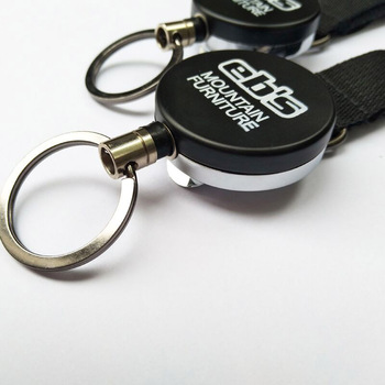 Custom fix function heavy duty metal smart retractable key ring holder