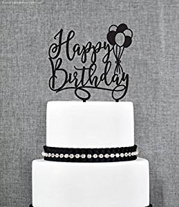 Get Quotations Birthday Cake Topper Happy Scripted Glitter