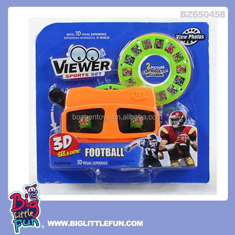 Rugby ball match 3D toy picture viewer